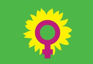 Aktion zum Internationalen Frauentag auf dem Rellinger Wochenmarkt