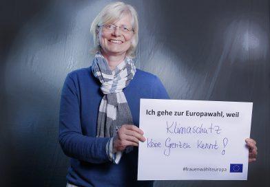 Anja Keller, Sprecherin des Ortsverbandes, unterstützt Kampagne #frauenwählteuropa